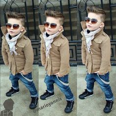 I think this cut would be cute on Noah. If I can convince him to not grow his ha...