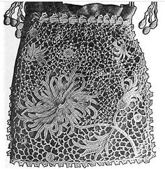 Chrysanthemum Opera Bag. Pattern by Anna W. Brown,  Home Needlework, February 1910