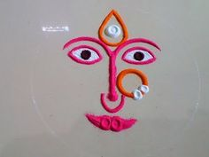 Ganesh Chaturthi Special Rangoli Design by DEEPIKA PANT - YouTube Simple Rangoli Designs Images, Rangoli Designs Flower, Rangoli Ideas, Rangoli Designs Diwali, Rangoli Designs With Dots, Flower Rangoli, Free Hand Rangoli Design, Free Hand Designs, Small Rangoli Design