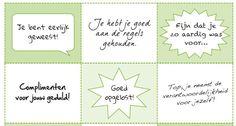 werken met complimenten - bazalt.nl Positive Behavior, Positive Mindset, Teach Like A Champion, Coaching, Growth Mindset, Kids Education, Social Skills, Team Building, Teacher Gifts