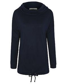 Cowl Neck Longline Sweatshirt