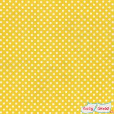 Double Gauze Yellow Dot Quilt Fabric by Lecien's Colour Basic Collection