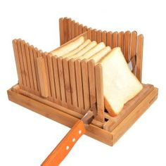 Kinwell Nature Bamboo Foldable Bread Slicer Bamboo, Bread, Nature, Wood, Creativity, Upcycling, Timber Wood, Naturaleza, Brot