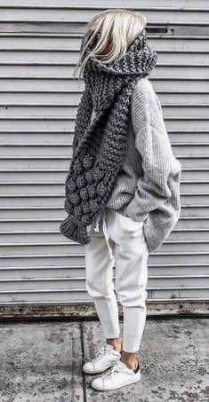 Casual comfortable knitted autumn outfit two-piece. , : Casual comfortable knitted autumn outfit two-piece. Cozy Fall Outfits, Winter Fashion Outfits, Look Fashion, Autumn Winter Fashion, Casual Outfits, Womens Fashion, Fall Winter, Hipster Outfits Winter, Fashion Clothes