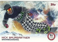 2014 Topps Winter Olympics Team NICK BAUMGARTNER # 100 Snowboarding - SET BREAK
