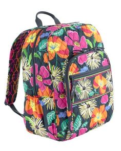 I really want this Vera Bradley Campus Backpack in jazzy blooms! It's such a cute pattern.