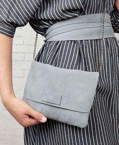 Umhänge Tasche Paula aus Eco Leder in Grau, perfekt zum Ausgehen / grey shoulder bag Paula made from eco leather made by Pikfine via DaWanda.com