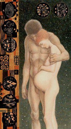 8 d'écus - Tarot de Klimt par A. Atanassov