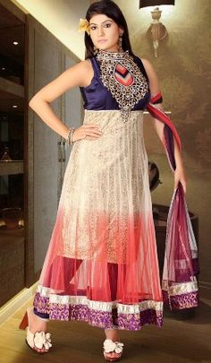 Kiranmala dress picture white and gold