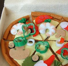 how to make felt green pepper rings for your pizza