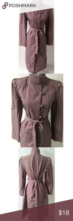 Purple Vintage Trench Coat 11 Polyester Length 45 Bust 38 vintage Jackets & Coats Trench Coats