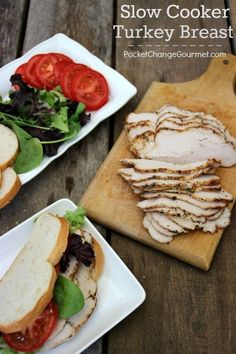 Slow Cooker Roasted Turkey Breast | Recipe on PocketChangeGourmet.com