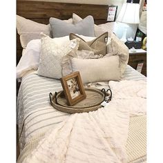 You can never go wrong with neutrals on neutrals. | Layers Beautiful Bedding
