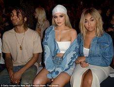 The in-group: Jenner sat next to her friend Jordyn Woods