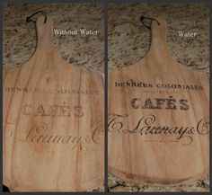 transfer images on to cutting boards