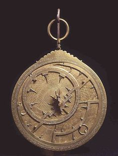 brahim ibn Sa�d (11th century)  Arab astrolabe, Valencia, 463 A.H.  Rome, Museo Astronomico e Copernicano, inv. 157/688    Fitted with tympanums for many latitudes, this complex instrument was built in Valencia, in Muslim Spain.