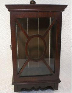 Edwardian Medicine Chest Antique British Victorian Small Wall Cabinet Cupboard 14 In