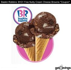 Baskin Robbins: B1G1 Free Nutty Cream Cheese Brownie *Coupon*    GET IT: http://gtsvngs.co/Sxi8MI
