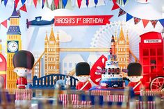 A British Themed 1st Birthday perfect for a Royal Little Prince by Fairy Floss Party and Favours