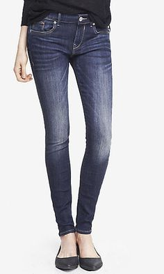 faded dark mid rise jean legging--Favorite jeggings
