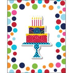 Birthday Cake Stand Foldover Invites - Fast Shipping - 8 per pkg