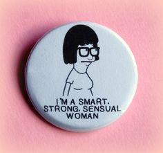 Tina Bobs Burgers button badge 15 Inch by PKPaperKitty on Etsy, $1.50