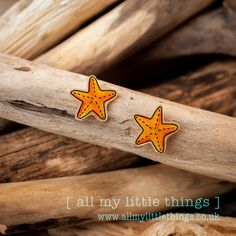 Starfish Earrings hand drawn ideal gift for by allmylittlethings, £5.00