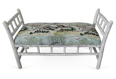 Recamier Bench, Vintage Fabric on OneKingsLane.com