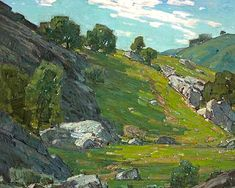 "William Wendt (1865-1946) was an American landscape painter. He was called the ""Dean of Southern California landscape painters."""