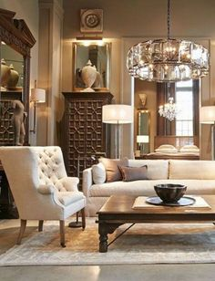 neutral tones living room