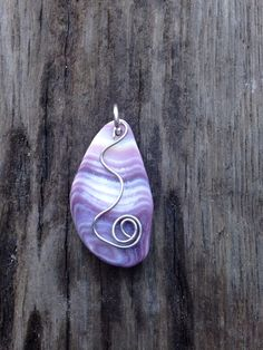 Wampum Necklace, Wampum Pendant, Sea Shell Jewelry