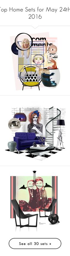 """""""Top Home Sets for May 24th, 2016"""" by polyvore ❤ liked on Polyvore featuring art, expression, artgallery, interior, interiors, interior design, home, home decor, interior decorating and Tom Dixon"""