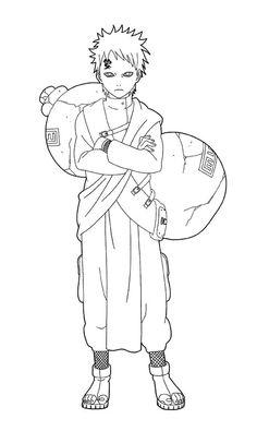 Gaara Friend Naruto Coloring Pages