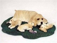 Cocker Spaniel Figurine Buff Mom & Pups: You will love the fine detail and clever way this Cocker… #PetProducts #PetGifts #AnimalJewelry