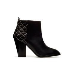 QUILTED HIGH HEEL ANKLE BOOT
