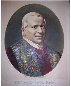 Papa Pío IX, LITOGRAFÍA. S.XIX.