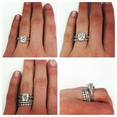 Engagement ring, wedding band, a band for   your husband & a band for each child. Create your own   stack.