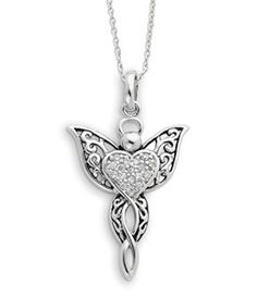 ApplesofGold.com - Angel of Blessing Sterling Silver Pendant