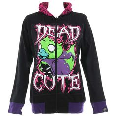 Cupcake Cult Dead Cute Hoodie (Black)