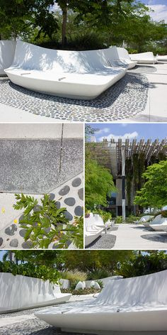 Modern landscape design at Perez Art Museum in Miami