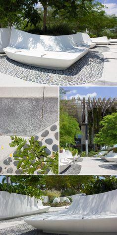 Modern landscape design at Perez Art Museum in Miami