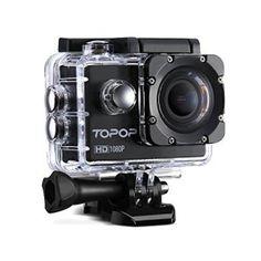 Caméra Sports / Topop Caméra embarquée étanche Haute Définition / Caméra Action Sport avec 12MP image et Full HD (1080p à 30fps) Vidéo, 30m…