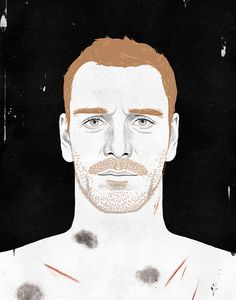 Image of Michael Fassbender Illustrated by Paul X. Johnson - Little White Lies - What I Love About Movies Book