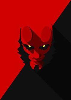 Yousuf Khan J - Minimal Heads Hellboy Geek Art, Comic Art, Character Art, Superhero Comic, Poster Art, Art, Hellboy Art, Cartoons Comics, Cartoon Art