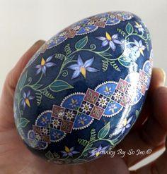 Nightshade Spiral Pysanka Ukrainian Easter Egg Batik Art Pysanky By So Jeo