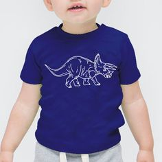 Triceratops | Mama, Slogan, Quote First Baby Short Sleeved Onesie Vest Toddler, T-Shirt, Tee, Hipster, Illustration, Cute Funny Slogan Gift Tumblr Blog, Boy, Girl, Summer, Mum, Dad
