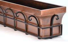 H Potter Window Planter Box Copper Outdoor Flower Plant Container for Windows Attach to House Deck Balcony Long Rectangular Shape 48 Inch Length Outdoor Flowers, Outdoor Planters, Outdoor Decor, Outdoor Spaces, Outdoor Living, Window Planter Boxes, Planter Pots, Garden Planters, Garden Trellis
