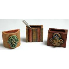 Pen Holder Half Round and Square, 4 Inch  #terracotta #terracottadecor #terracottacraft #terracottagoods #terracottagifts #handmade #handicraft #handcraft #handemade #handmadegifts #handbuilt #handmadegift #handycraft #decorative #decorativeitems #homedecor #homegoods #homedecoration #homedecorating #homeinterior #crafts #penholders #penholder #penstands #penstand #pencilholders #pencilholder