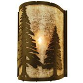Rustic Tall Pines Wall Sconce - Meyda 68169