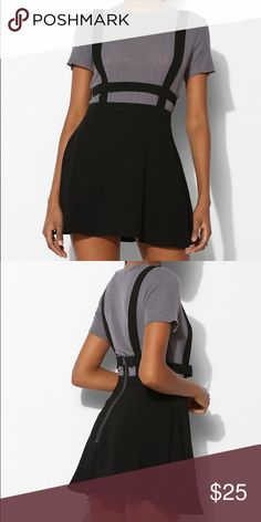sparkle & fade suspender cage overall skirt a mini skirt that goes with everything and highlights the waist. Urban Outfitters Skirts Mini